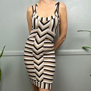 Bebe Striped Racerback Mini Dress Bodycone S Chica